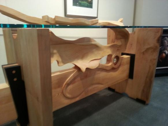 Hand Carved Kelp dining room table