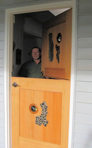Don Bastian hand crafted country dutch door