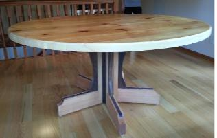 Don Bastian crafted round dining room table