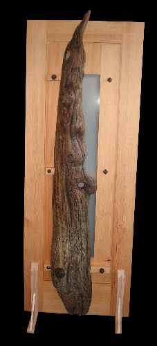 Door entitled Lady at the Door, driftwood piece