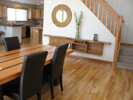Log home staging